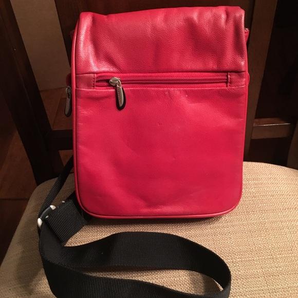 Travelon Bags   Red Leather Crossbody Bag   Poshmark 268050d735